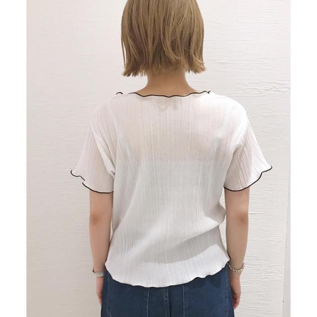 mystic(ミスティック)の新品 omekashi 配色メロートップス レディースのトップス(カットソー(半袖/袖なし))の商品写真