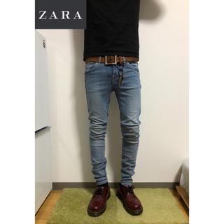 ザラ(ZARA)の【本日発送】ZARA  スキニー ブルー系 美品 即購入OK!①(デニム/ジーンズ)