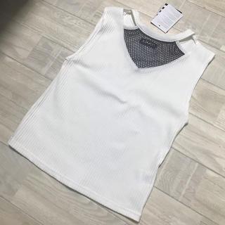 アナップ(ANAP)のANAP 新品未使用 メッシュ トップス(カットソー(半袖/袖なし))