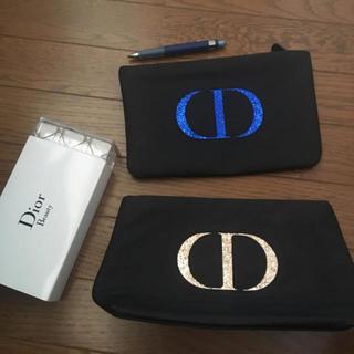 Dior - dior ノベルティ ポーチ コットンケース