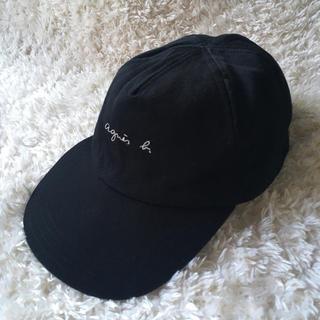 agnes b. - 美品●記名跡あり●アニエス・ベー  キャップ 帽子 ブラック M