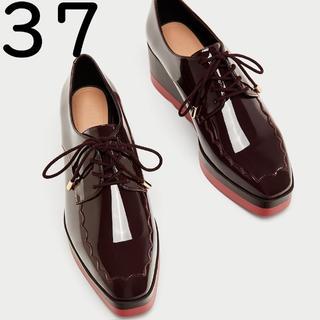 ザラ(ZARA)のZARA TRF プラットフォーム ダービーシューズ 37 ザラ(ローファー/革靴)