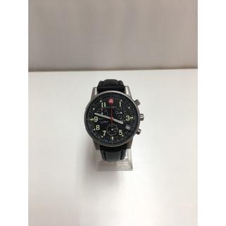 ウェンガー(Wenger)のWENGER  ウェンガー 536 0765 コマンドクロノグラフ 黒文字盤 (腕時計(アナログ))