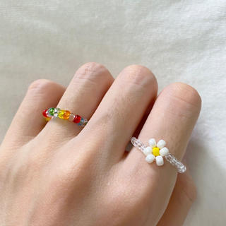 ビーズリング 指輪 韓国 #107(リング)
