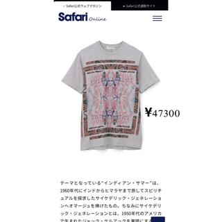 エトロ(ETRO)の半額 ETRO プリント クルーネック 半袖トップ ライトグレー XXL(Tシャツ/カットソー(半袖/袖なし))