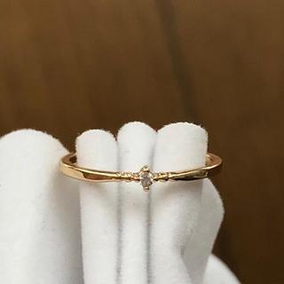ピンキーリング 4号 ゴールド 華奢 シンプル ファランジリング(リング(指輪))