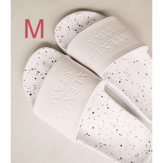 ALEXIA STAM - ALEXIASTAM Hand Painted Sandals White M