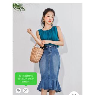 グレイル(GRL)のデニムマーメイドスカート(ひざ丈スカート)