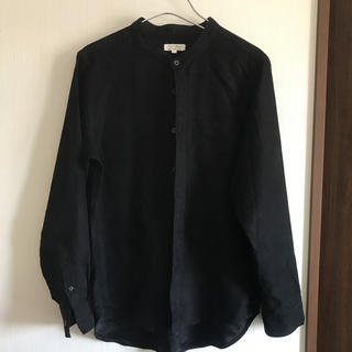 MONO-MART フェイクスウェードバンドカラーシャツ L(シャツ)