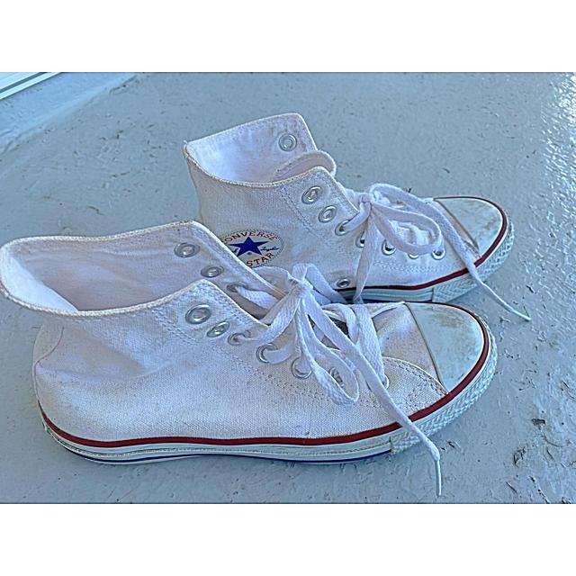 CONVERSE(コンバース)のCONVERSE コンバース オールスター ハイカット 白 ホワイト24.0cm レディースの靴/シューズ(スニーカー)の商品写真