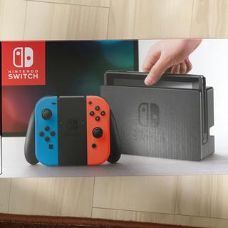 任天堂 - Switch 任天堂スイッチ 本体 ネオンブルー ニンテンドウ 中古