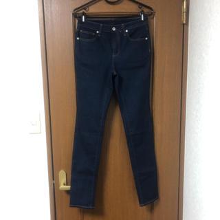 ジーユー(GU)の新品未使用 GU ジーユー WOMEN スキニージーンズ ネイビー 70cm(スキニーパンツ)