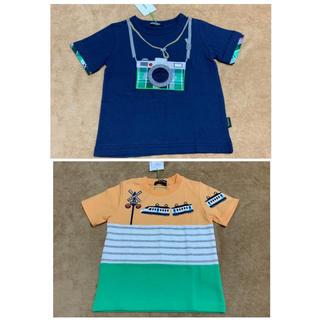 クレードスコープ(kladskap)の新品!55%OFF♪クレードスコープ 電車切り替えとカメラTシャツ♪(Tシャツ/カットソー)