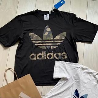 adidas - 新品 adidas アディダス オリジナルス 半袖 Tシャツ チャコールグレー