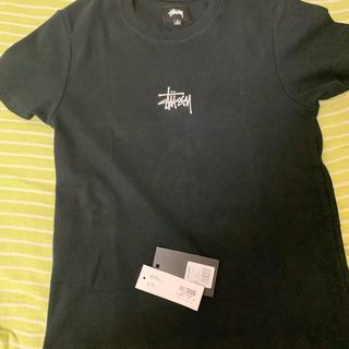 ステューシー(STUSSY)のSTUSSY 人気センターブランドロゴ黒Tシャツ  完全未利用(Tシャツ(半袖/袖なし))