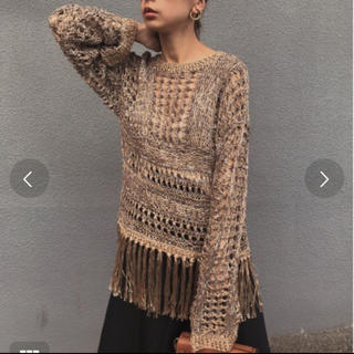 Ameri VINTAGE - アメリヴィンテージ  SPRAY MIX COLOR FRINGE KNIT