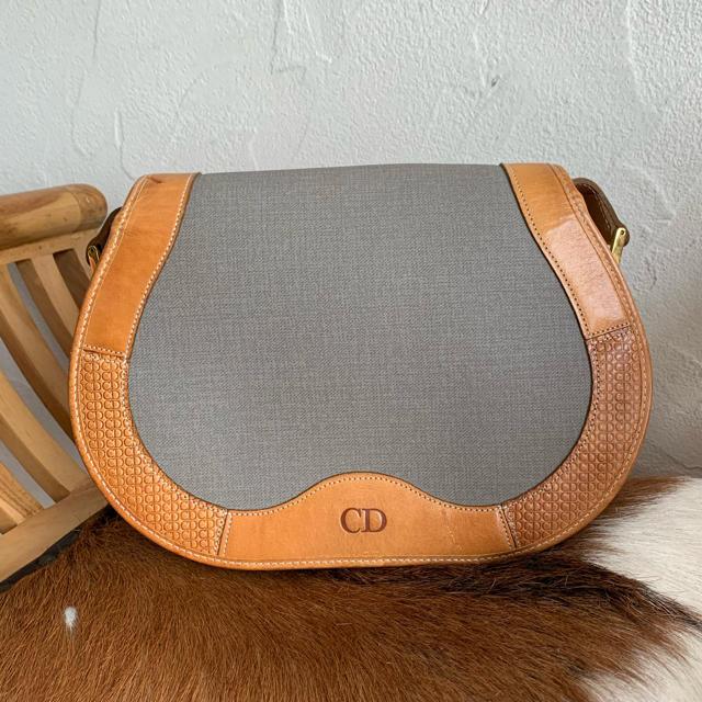 Christian Dior(クリスチャンディオール)の70's仏!オールドDior!グレー✖️キャメル!ショルダー レディースのバッグ(ショルダーバッグ)の商品写真