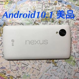 エルジーエレクトロニクス(LG Electronics)のnexus5 Android10.1 32GB SIMフリー 美品(スマートフォン本体)