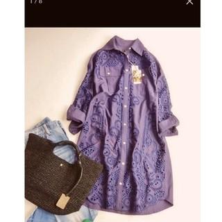 グレースコンチネンタル 刺繍ワンピ 定価4.2万円 ブルマリン フォクシー