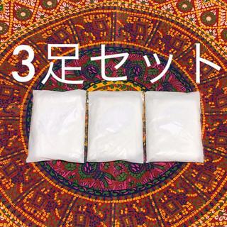 セシール(cecile)のストッキング 白 MLサイズ 3足組(タイツ/ストッキング)