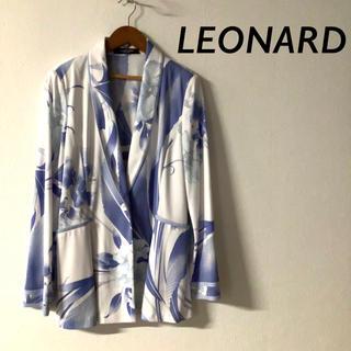 レオナール(LEONARD)のLEONARD 定番 カンカン 人気 花柄 ショールカラー ジャケット(テーラードジャケット)