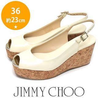 JIMMY CHOO - 新品❤ジミーチュウ メタルトゥ コルクウェッジソール サンダル 36(約23cm