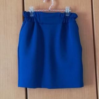 シマムラ(しまむら)の新品 ブルーのサロペットスカート 2way(ミニスカート)