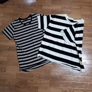 エニィファム(anyFAM)のボーダーTシャツ(Tシャツ/カットソー(半袖/袖なし))