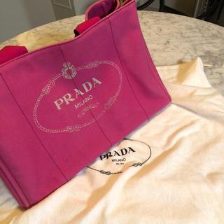 PRADA - プラダ カナパ Lサイズ ピンク