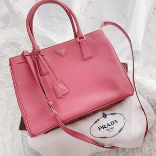 PRADA - 最終値下げ プラダ 美品ハンドバッグ サフィアーノ ピンク 付属品全て有