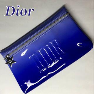 Dior - 追跡可★ Dior パープルブルー グラデーション エナメル 台形 コスメポーチ