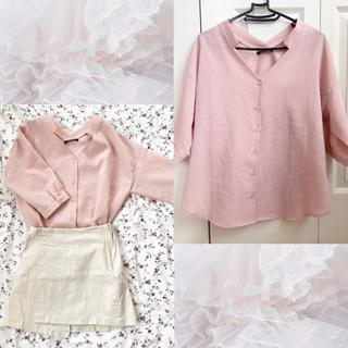 ワンウェイ(one*way)の♡ONE WAY 半袖ピンクシャツ♡(シャツ/ブラウス(半袖/袖なし))