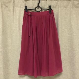ワールドベーシック(WORLD BASIC)のLE TiROiR シフォンボイルスカート(ひざ丈スカート)