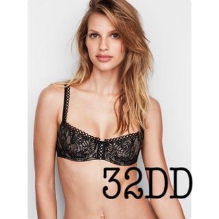 ヴィクトリアズシークレット(Victoria's Secret)の新品 32DD プッシュアップ ブラ パッディングなし 黒(ブラ)