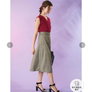 MERCURYDUO - マーキュリーデュオ チェック柄アシンメトリー切り替えスカート