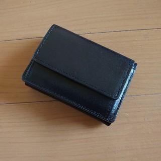 トゥデイフル(TODAYFUL)のTODAYFUL レザー三折りウォレット ブラック 美品(財布)