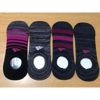 アディダス(adidas)のくりん様専用 ◡̈⃝adidas レディース用靴下【4足セット】23〜25cm(ソックス)