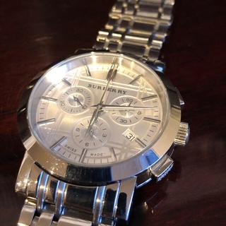 BURBERRY - BURBERRY 腕時計 BU1372 メンズ クロノグラフ 電池新品 分解清掃