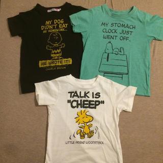 UNIQLO - スヌーピーTシャツ3枚セット サイズ100