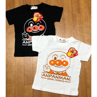 アンパンマン - ★アンパンマン★ 男の子 女の子 ホワイト×ブラック Tシャツ 2枚セット