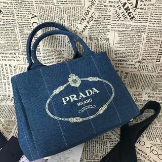 PRADA - デニムハンドバッグショルダーバッグ