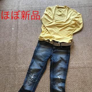 ジーユー(GU)のほぼ新品 ロンT(Tシャツ/カットソー(七分/長袖))