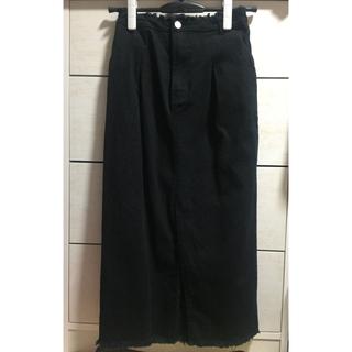 ミスティック(mystic)の【mystic】【ミスティック】スカート 黒(ひざ丈スカート)