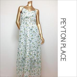 Peyton Place - PEYTON PLACE 花柄 マキシワンピース ロングワンピース♡大きいサイズ