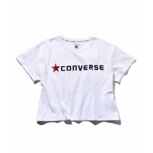 CONVERSE(コンバース)の✨CONVERSE コンバース 刺繍 ショート Tシャツ✨ レディースのトップス(Tシャツ(半袖/袖なし))の商品写真
