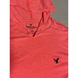 アメリカンイーグル(American Eagle)のアメリカンイーグル フード付ロングTシャツ 大きめM お値下げ(Tシャツ/カットソー(七分/長袖))