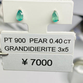 CE-50764 PT900 ピアス グランディディエライト AANI アニ