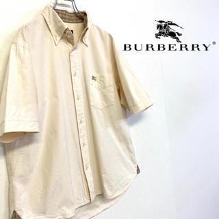 美品 BURBERRY BLACKLABEL 刺繍ロゴBDシャツ