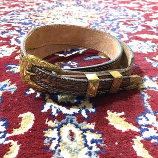 TOGA - USA vintage gold buckle western belt