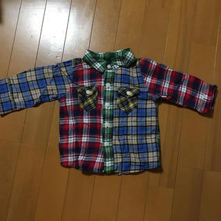 ユニクロ(UNIQLO)のチェックシャツ 90cm UNIQLO(その他)